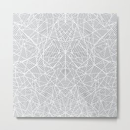 Abstract Lace on Grey Metal Print