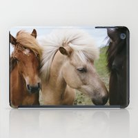 iceland iPad Cases featuring Iceland Horses by LUKE/MALLORY
