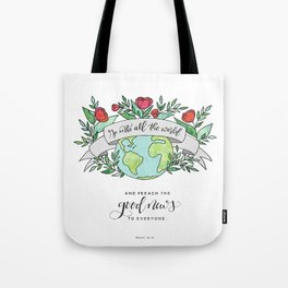 Go And Preach Tote Bag