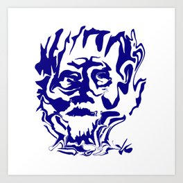 face5 blue Art Print