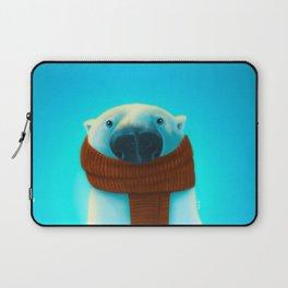 Polar bear with scarf Laptop Sleeve