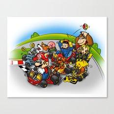 Super Smash Kart Canvas Print