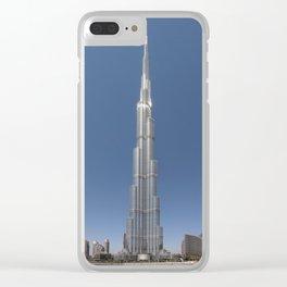 Burj Khalifa in daylight Clear iPhone Case