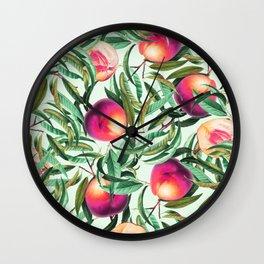 Sweet Peaches #society6 #decor #buyart Wall Clock