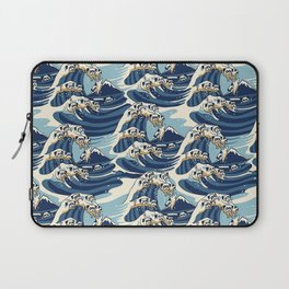The Great Wave of Pug Pattern Laptop Sleeve