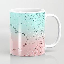 Summer Vibes Glitter Heart #1 #coral #mint #shiny #decor #art #society6 Coffee Mug