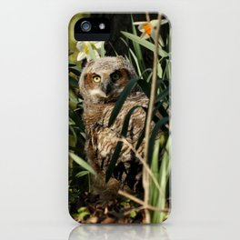 Among the daffodils iPhone Case