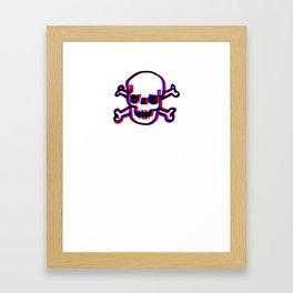 Skully 3D Framed Art Print