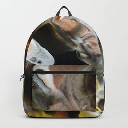 Janus - God of Beginnings, transitions, and duality - Original Abstract Painting Backpack