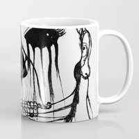 psycho Mugs featuring ~psycho by alexisdarkness