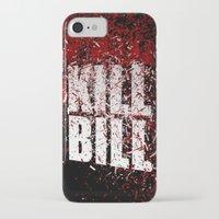 kill bill iPhone & iPod Cases featuring KILL BILL blood by Osman SARGIN