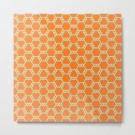 Pastel Yellow-Orange Freeman Lattice Metal Print