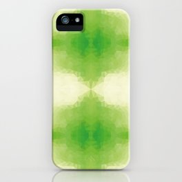 Kaleidoscopic design in green soft colors iPhone Case
