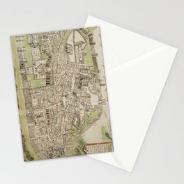 Vintage Map of Jerusalem Israel (16th Century) Stationery Cards