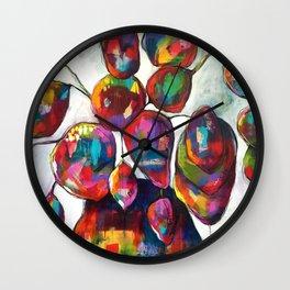 A tombe crochu, serie au jardin Wall Clock