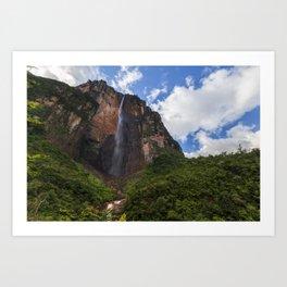 The Angel Falls - Venezuela Art Print