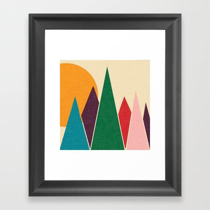 solar mountain #homedecor #midcentury Framed Art Print