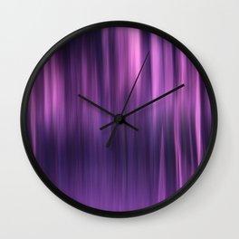 PURPLE PANNING Wall Clock