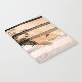 Desert Musings - a watercolor and ink abstract in gray, brown, and black Notebook