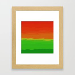 Candy Watermelon Abstract Framed Art Print