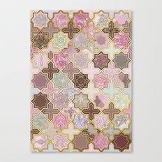 Neapolitan Geometric Tile Pattern Canvas Print