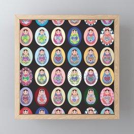 cute doll babushka matryoshka Framed Mini Art Print
