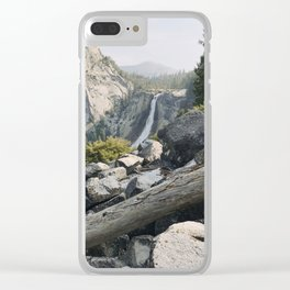 Liberty Cap and Nevada Falls in Morning Light Clear iPhone Case