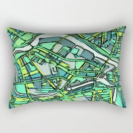 Abstract Map- Lowell MA Rectangular Pillow