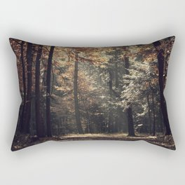 Autumn light and rays - horizontal Rectangular Pillow