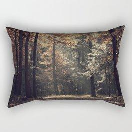Autumn light and rays - horizontal Rectangular Pillow