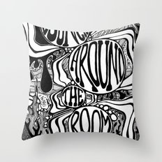 Bouncing Around the Room Throw Pillow