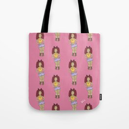 Curly Girl Tote Bag