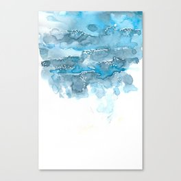 Blue water abstract 1 Canvas Print