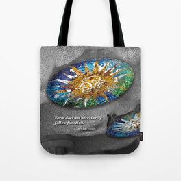 Form does not necessarily  follow function, Antonio Gaudi. Tote Bag