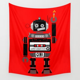80s Mix Tape Robot - Gene (KISS TRIBUTE) Wall Tapestry