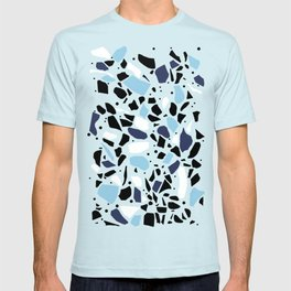 Terrazzo Spot Blues on Blush T-shirt