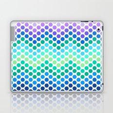 Dot Chevron: Blue Purple Laptop & iPad Skin
