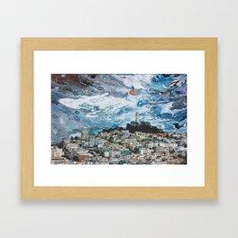 Starry Coit Tower Framed Art Print