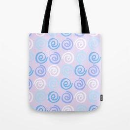 Lavender white blue violet aqua geometrical swirls pattern Tote Bag