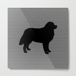 Bernese Mountain Dog Silhouette(s) Metal Print
