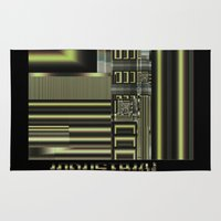 industrial Area & Throw Rugs featuring Industrial by inkedsandra