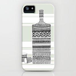 Patterned Bottle iPhone Case