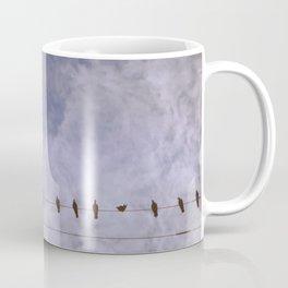 Hazy Birds on a Wire Coffee Mug