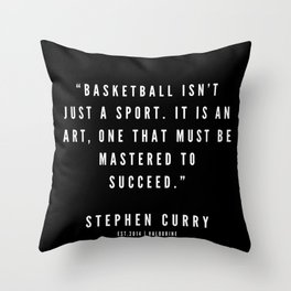 12   |  Sport Quotes | 190527 | Black Throw Pillow