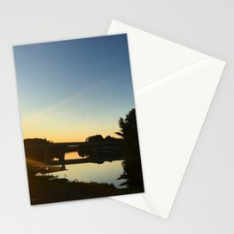 Sunset on the River Stationery Cards