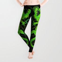 Asian Long Life Green Leggings