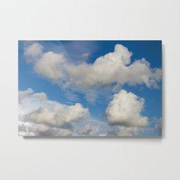 huge cumulus clouds nimbus over the blue sky Metal Print