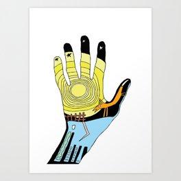 ANIMAL HAND Art Print