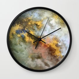 Colorful Abstract Clouds No.1 (left) Wall Clock