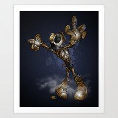 ZOMBIE C3PO Art Print